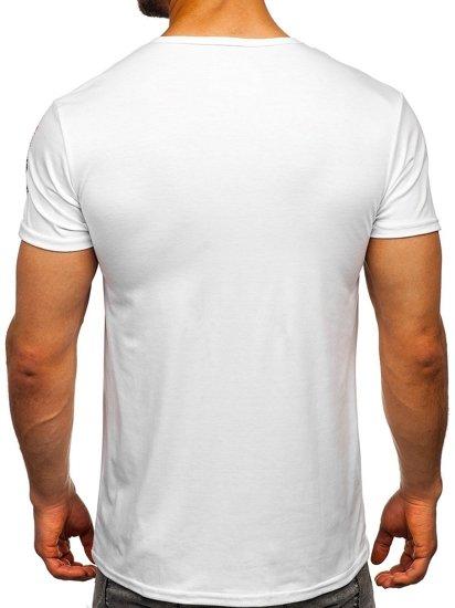 Bílé pánské tričko s potiskem Bolf SS10931