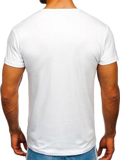 Bílé pánské tričko s potiskem Bolf SS710