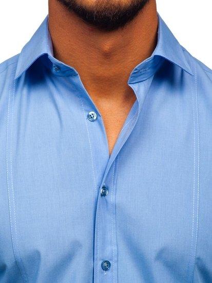 Blankytná pánská elegantní košile s dlouhým rukávem Bolf 6944