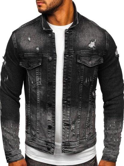 Černá pánská džínová bunda Bolf 6614G