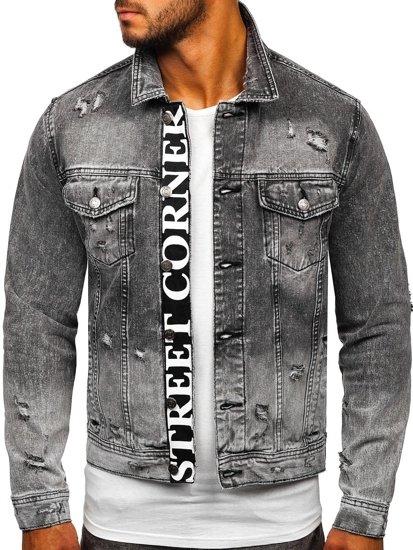 Černá pánská džínová bunda Bolf 6670G