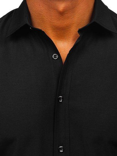Černá pánská elegantní košile s krátkým rukávem Bolf 7501
