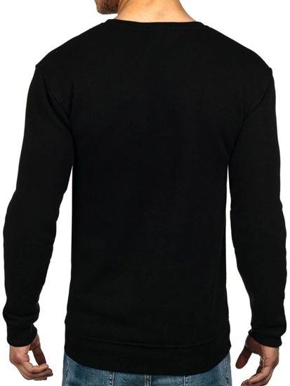 Černá pánská mikina bez kapuce Bolf 1229
