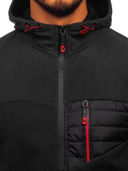 Černá pánská mikina s kapucí Bolf YL011