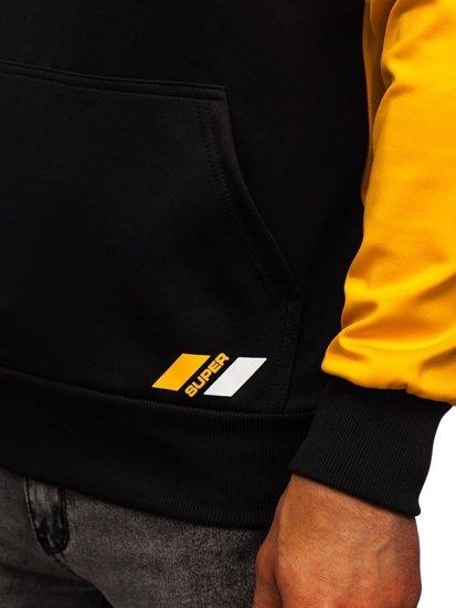Černá pánská mikina s kapucí a potiskem Bolf DD20127