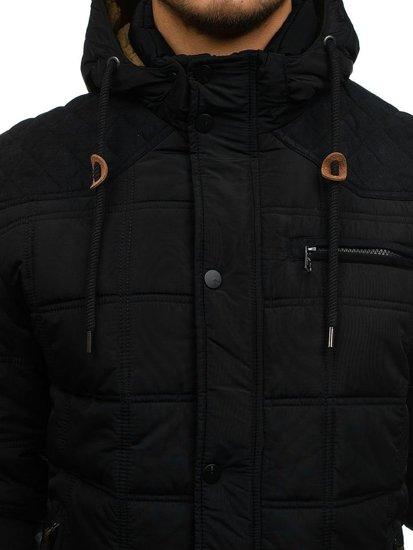 Černá pánská přechodná bunda Bolf 1666