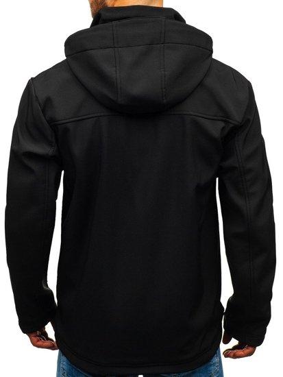 Černá pánská softshellová přechodová bunda Bolf 5425