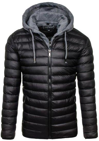 Černá pánská sportovní zimní bunda Bolf 3110