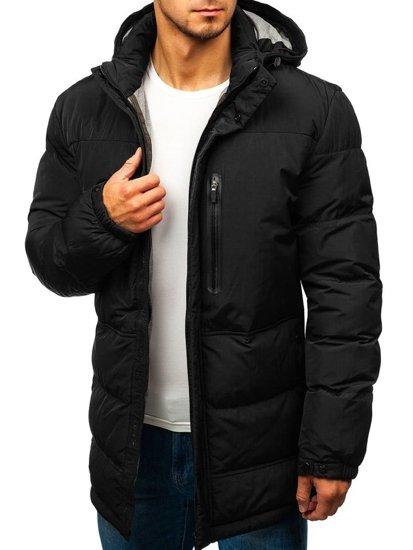f04cfd82433 Černá pánská zimní bunda Bolf 1669