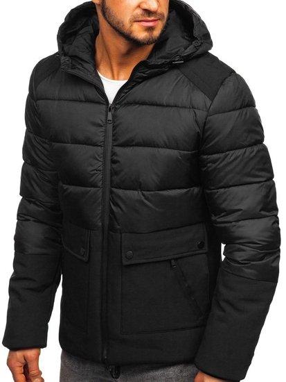 Černá pánská zimní bunda Bolf B1280