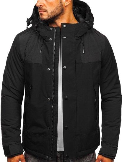 Černá pánská zimní bunda Bolf J1905