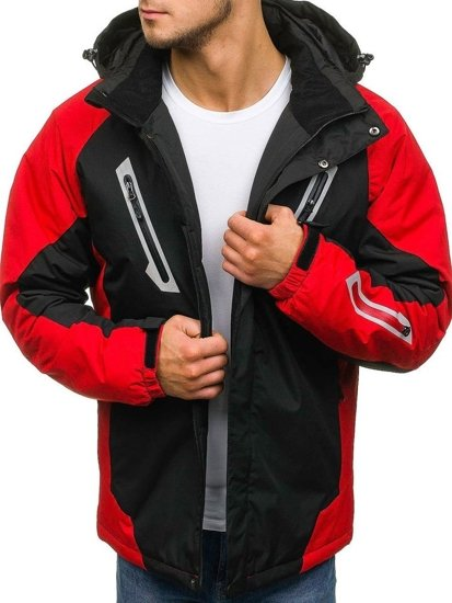Černá pánská zimní lyžářská bunda Bolf F809