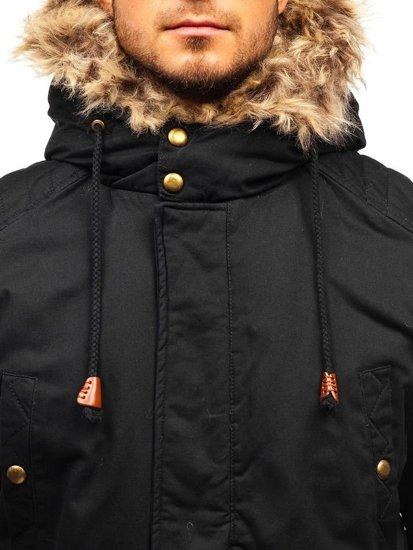 Černá pánská zimní parka Bolf 33192