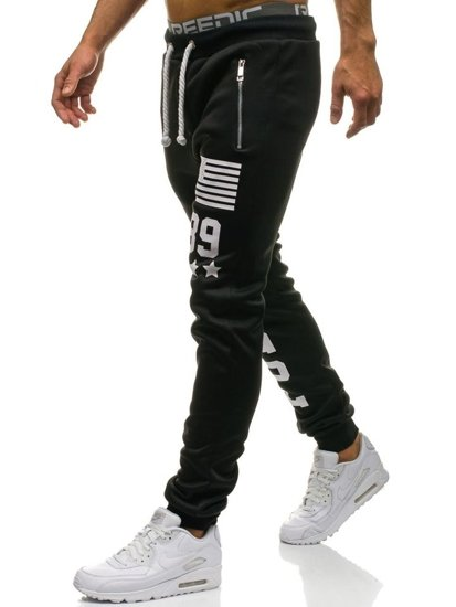 Černé pánské baggy kalhoty Bolf 871