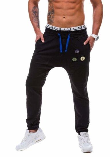 Černé pánské džínové jogger kalhoty Bolf 800