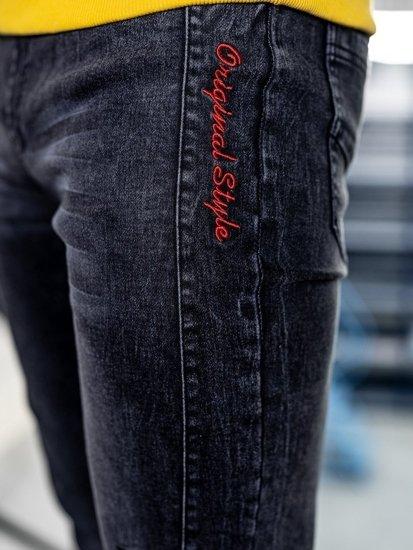 Černé pánské džínové jogger kalhoty Bolf HY562