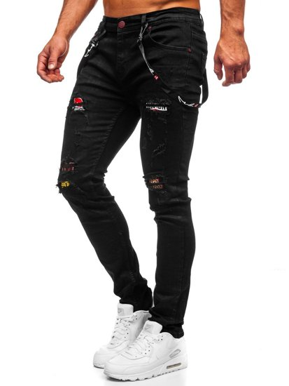 Černé pánské džíny slim fit Bolf 60012WO