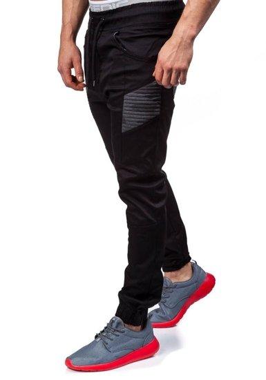 Černé pánské jogger kalhoty Bolf 0706