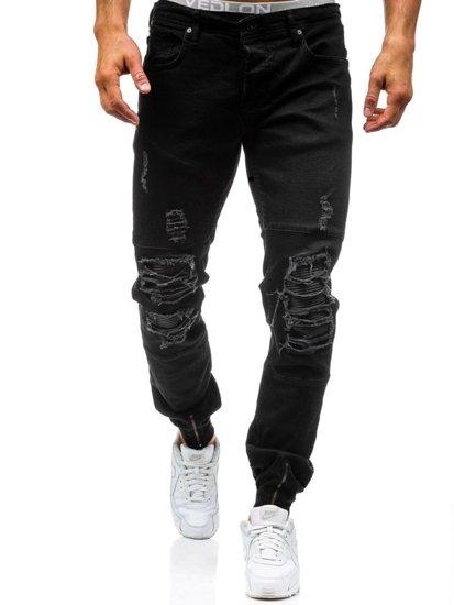 Černé pánské jogger kalhoty Bolf 456