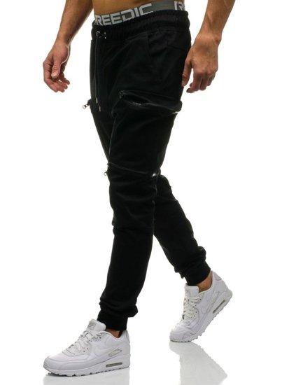 Černé pánské jogger kapsáče Bolf 0475