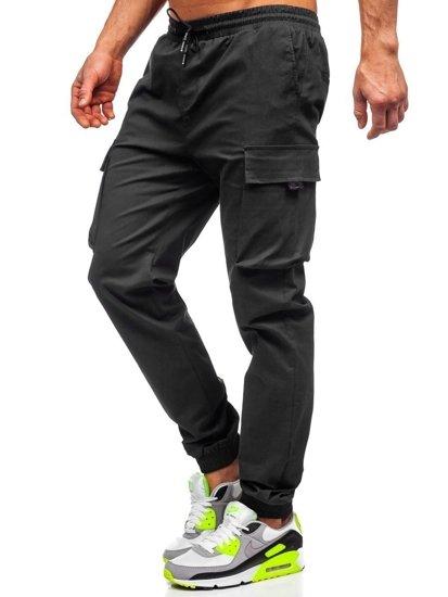 Černé pánské jogger kapsáče Bolf 701