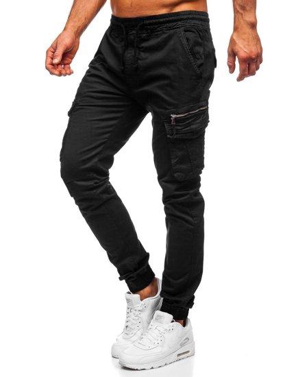 Černé pánské jogger kapsáče Bolf 8978