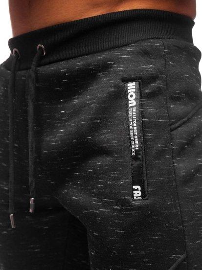 Černé pánské tepláky Bolf 80575