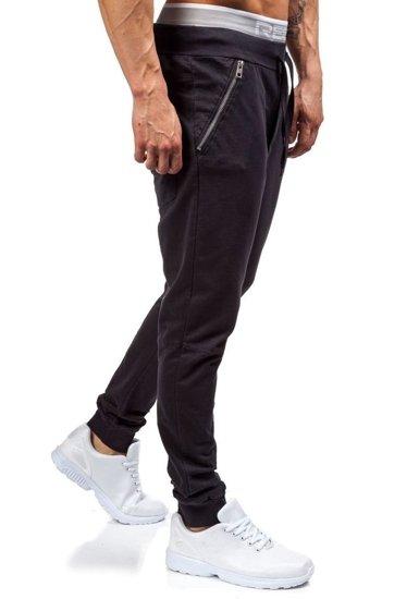Černé pánské tepláky jogger Bolf 2652