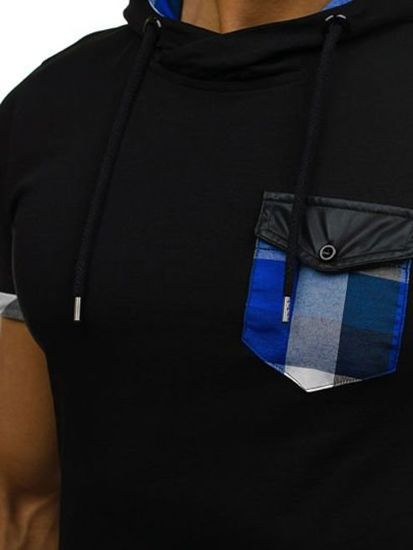 Černé pánské tričko bez potisku Bolf 0479