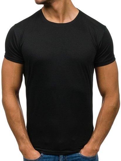 Černé pánské tričko bez potisku Bolf 2011