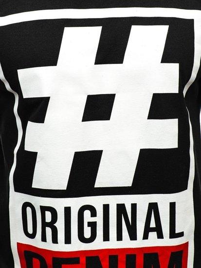 Černé pánské tričko s potiskem Bolf 1239