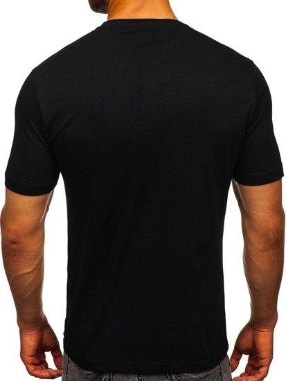 Černé pánské tričko s potiskem Bolf 6298
