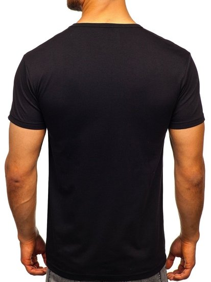 Černé pánské tričko s potiskem Bolf KS1834
