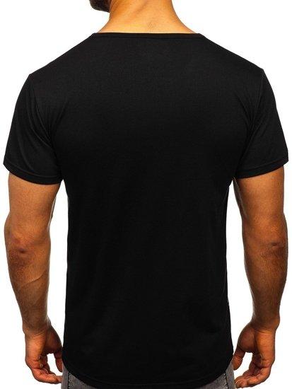 Černé pánské tričko s potiskem Bolf KS2016