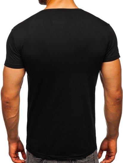 Černé pánské tričko s potiskem Bolf SS392