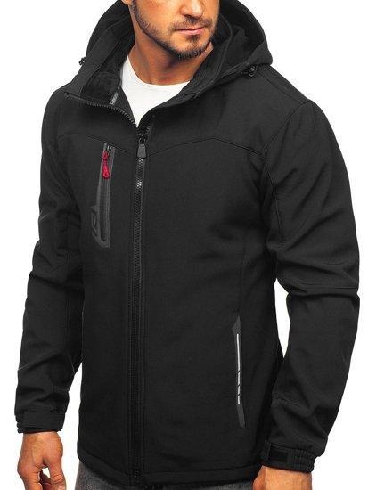 Černo-červená pánská softshellová bunda Bolf 12268