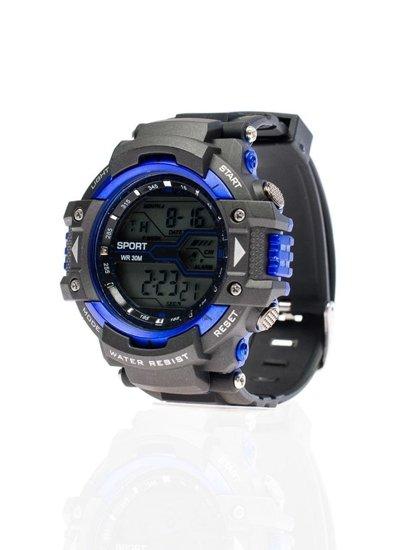 Černo-královsky modré pánské hodinky Bolf 8338