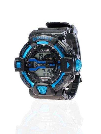 Černo-modré pánské hodinky Bolf 9985