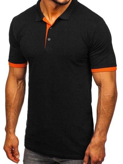 Černo-oranžová pánská polokošile Bolf 171222-1