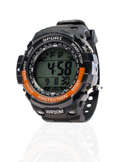 Černo-oranžové pánské hodinky Bolf 8352