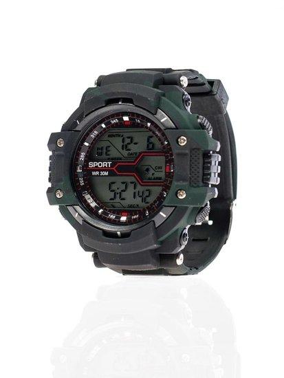 Černo-tmavě zelené pánské hodinky Bolf 8338