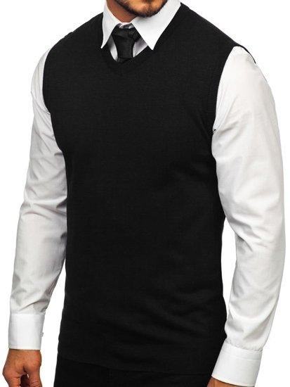 Černý pánský svetr bez rukávů Bolf 2500