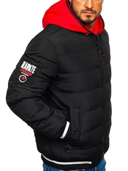 Černý pánský zimní bomber Bolf 5892