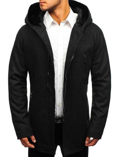 Černý pánský zimní kabát Bolf 3128 7b7f8193287