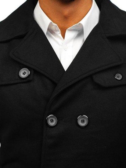 Černý pánský zimní kabát Bolf EX906