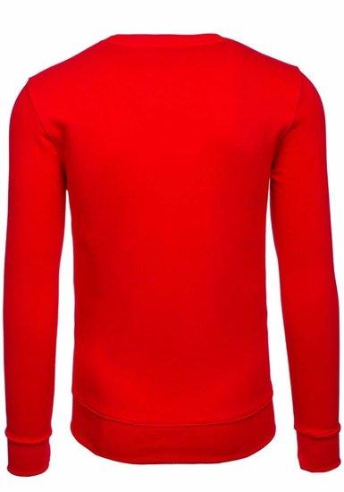 Červená pánská mikina bez kapuce Bolf 44S