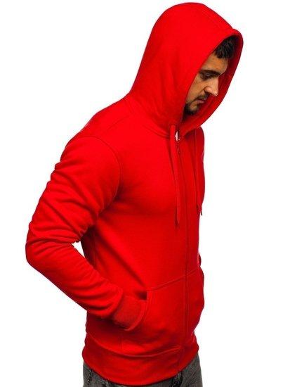 Červená pánská mikina s kapucí Bolf 2008