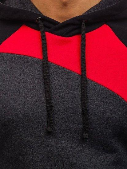 Červená pánská mikina s kapucí Bolf 28S
