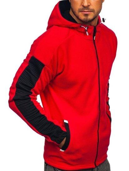 Červená pánská mikina s kapucí Bolf YL002