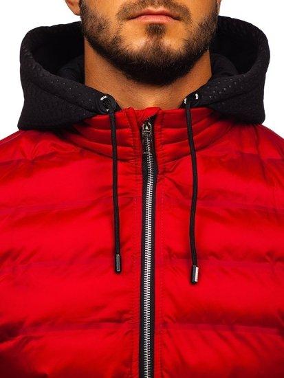Červená pánská přechodová bunda Bolf 5332